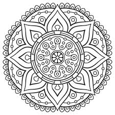 awesome mandala coloring pages kids intended