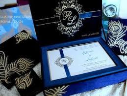 Wedding Invitations Box Velvet Wedding Invitation Box With Gold Embroidery View Wedding