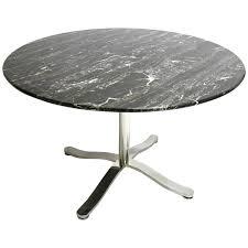marble top pedestal table nicos zographos alpha pedestal table with stunning black marble top