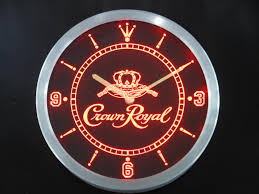 royal crown watches 2006 chinese goods catalog chinaprices net nc0104 crown royal whiskey neon sign led wall clock dropshipping world of home decor since