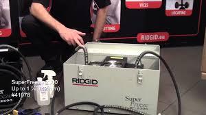 ridgid sf 2200 mastertools pro youtube
