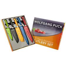 wolfgang puck kitchen knives wolfgang puck non stick 10 knife set tree shops