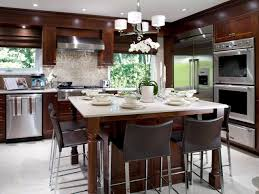 kitchen island with sink and seating kitchen island with seating and stove tile flooring kitchen sink