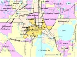 map of kissimmee kissimmee florida
