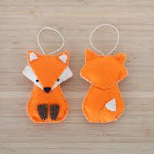 Handmade Home Decor Felt Fox Ornament Handmade Fox Ornament Decorative Fox Ornament