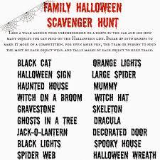 free printable halloween game halloween scavenger hunt
