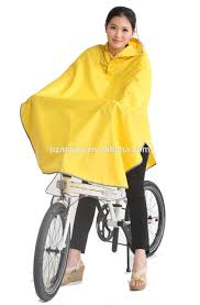 bicycle raincoat 100 polyester with pvc pu coating imprinted rain poncho cycling