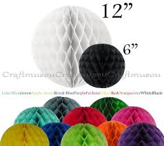 home decor events honeycomb 6 ball 1pc tissue round hanging birthday party home