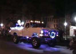 neon lights for trucks santa s sleighs f 250 christmas float f 550 fire truck ford