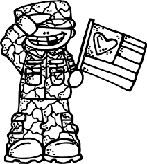 soldier boy flag coloring wecoloringpage