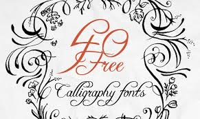 the art of calligraphy 40 free fonts for creative writing