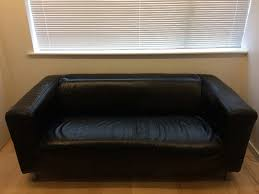ikea black leather sofa ikea klippan black leather sofa in trumpington cambridgeshire