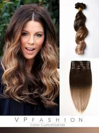 ombre hair extensions two colors ombre indian remy clip in hair extension uswo2018