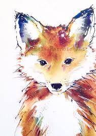 Fox Home Decor by Fox Art Animal Art Art Print Foxes Woodland Art Birthday