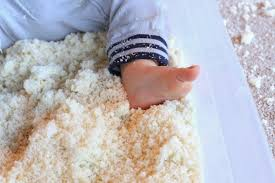 Snow At Home by Winter Sensory Play Edible Pretend Snow