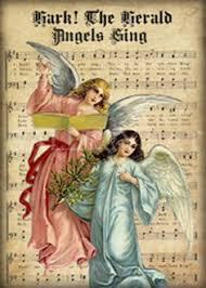 hark the herald angels sing printable vintage christmas sheet