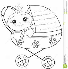 coloring page baby carriage archives for creativemove me