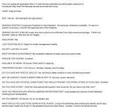 Job Application Resume Template by Mcdonalds Resume Template Billybullock Us