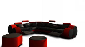 a 3087 modern black and red leather sectional sofa u0026 ottoman