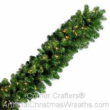9 x 18 led lit noble fir garland artificialchristmaswreaths