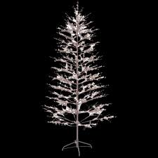 Outdoor Christmas Decorations Home Depot Ge 6 5 Ft Brown Winter Berry Branch Tree With C4 Color Choice Led