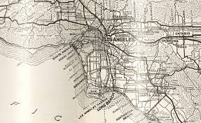 Map Of Los Angeles County by Detective E B Mortensen Daily Reports Collection Oviatt Library