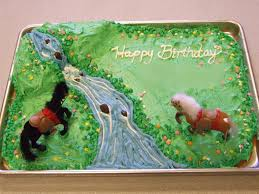 show tell share horse birthday cake