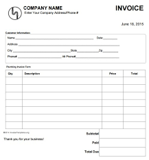free printable work invoice template invoice for work plumbing invoice sle plumbing invoice plumbing