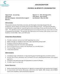 Human Resources Job Description Resume Payroll Accountant Job Description Resume Payroll Accountant