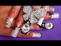 designer rock star wedding nails absolute nails youtube