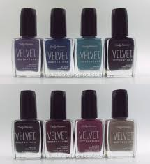 frazzle and aniploish sally hansen velvet texture swatches