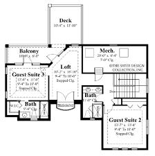 apartments guest suite plans mediterranean style house plan beds