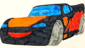 learning colors with cars 3 lightning mcqueen coloring page kinder