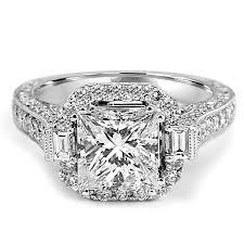 princess cut halo engagement ring jean jewelers