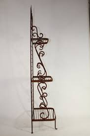 Wrought Iron Bakers Rack With Glass Shelves Wrought Iron Narrow Bakers Rack