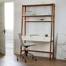 west elm white bookcase modern wall desk west elm