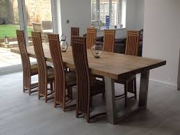 Large Oak Kitchen Table by Komodo Dining Table Abacus Tables