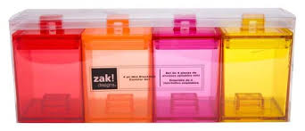 zak design zak designs meeme mini stacking canisters assorted pack of 4