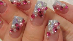 japanese pink and light blue kawaii design with rhinestones and