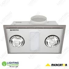 silver cosmo duo 3 in 1 bathroom heater exhaust and light