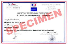 bureau du service national attention nouvelle réglementation concernant la justification de
