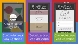 Area Calculater by Surface Area Of 2d U0026 3d Shape Android Apps On Google Play