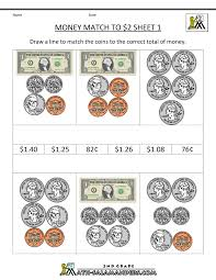First Grade Math Printable Worksheets 2nd Grade Money Worksheets Up To 2