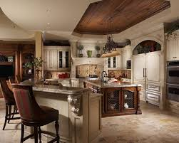 kitchen style colorful mediterranean kitchen with wood countertop