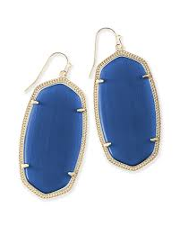 navy blue earrings danielle gold statement earrings in navy blue kendra