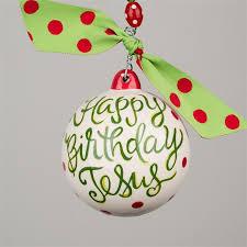 haus happy birthday jesus ornament