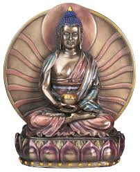 amazon com buddha amitabha collectible sculpture home u0026 kitchen