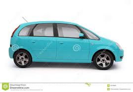 teal blue car multi purpose light blue car side view royalty free stock images