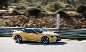 lexus yellow 2018 lexus lc 500 yellow test drive front and side view gallery