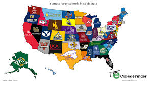 Unlv Campus Map Tamest Party Schools In Each State Mwc Sports Forum Mwc